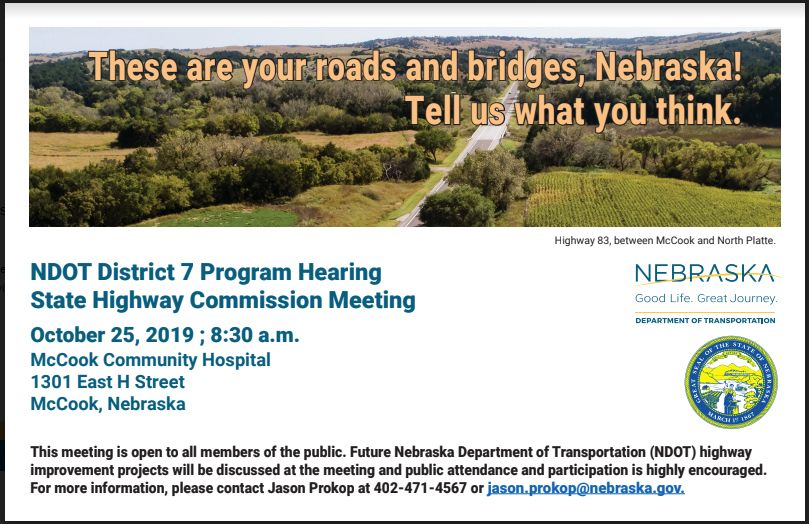 Highway Commission/District 7 Program Hearing in McCook