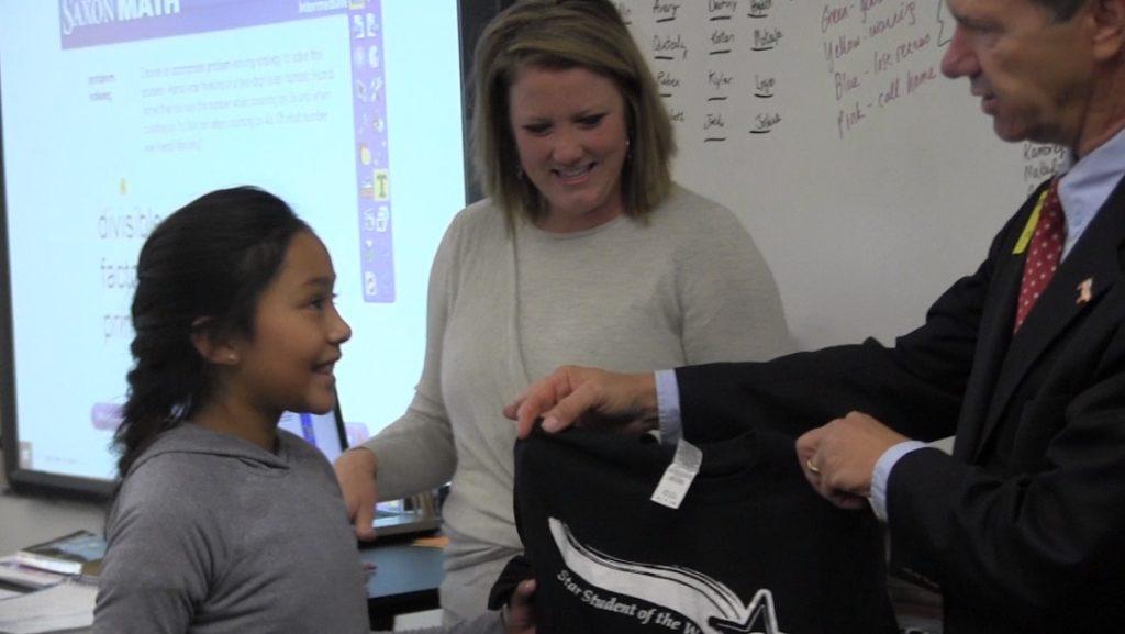 Bridgeport 5th Grader Elizabeth Velazquez named PVC Star Student of the Week