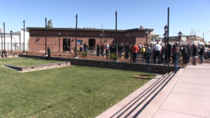 City celebrates the completion of the Civic Plaza in Downtown Gering