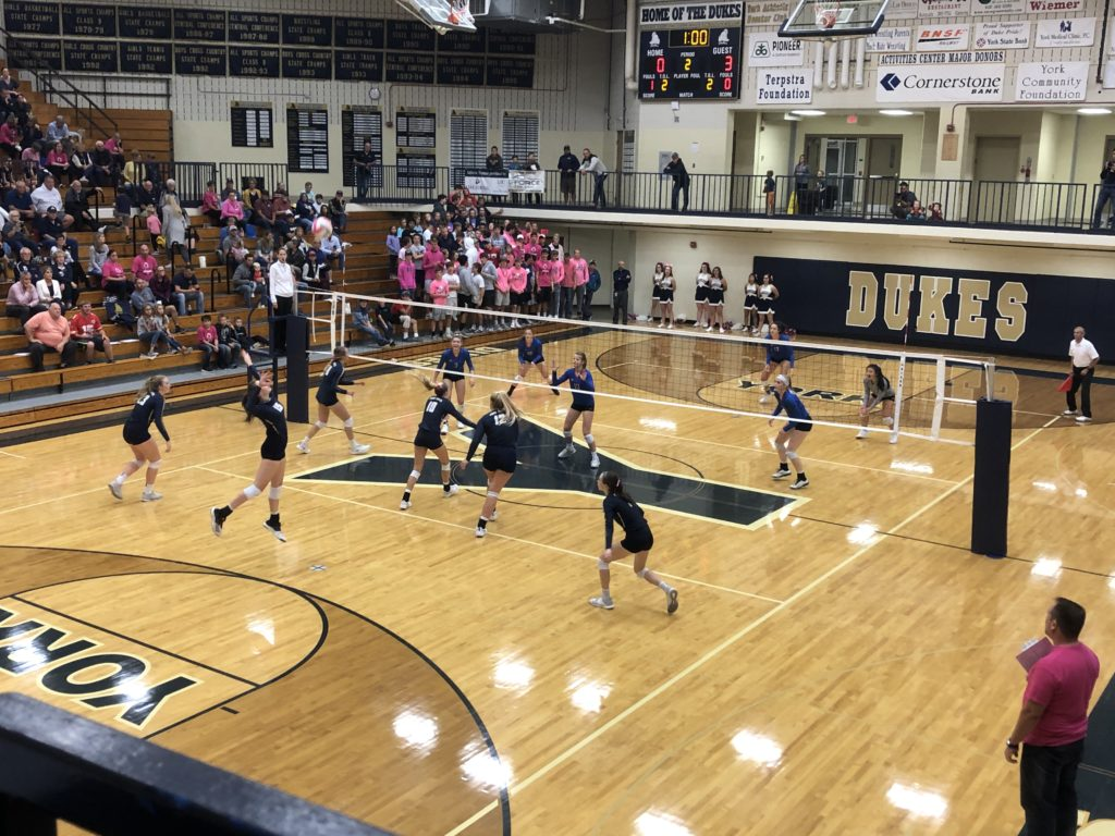 York High Volleyball Moves to 8-7