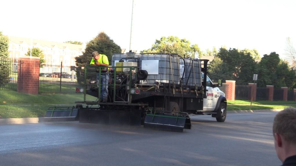 VIDEO: Soy-based road sealant testing on Lincoln streets