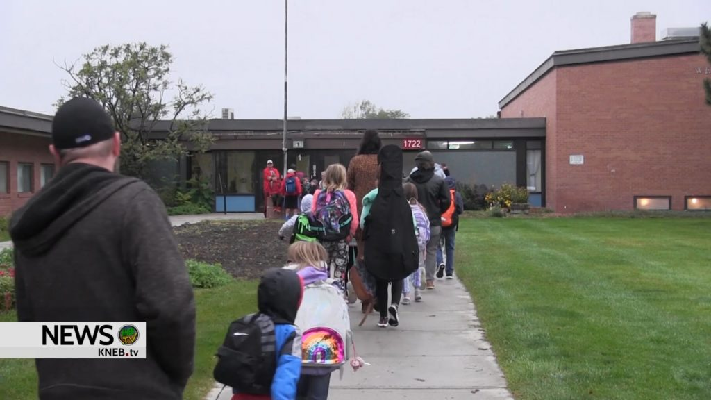 Scottsbluff students participate in International Walk to School Day