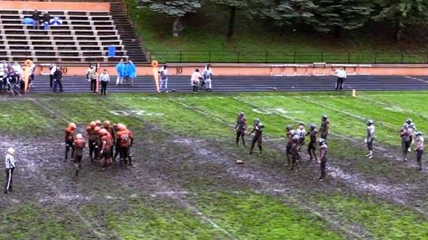 (Audio) Jamestown outlasts Concordia in four-overtime mud bowl