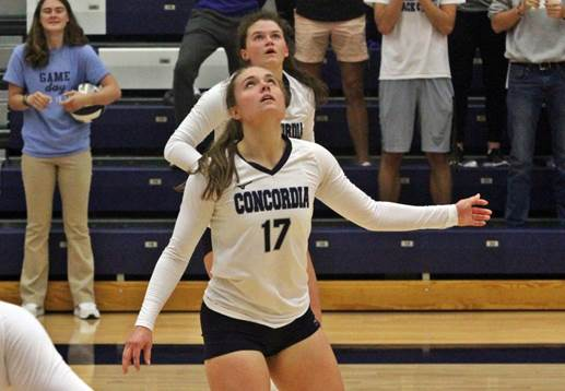 Middles large in straight-sets win at Mount Marty