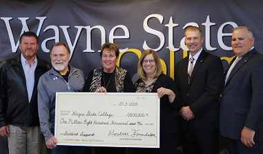 Gardner Foundation Donates $1.8 Million To Wayne State College