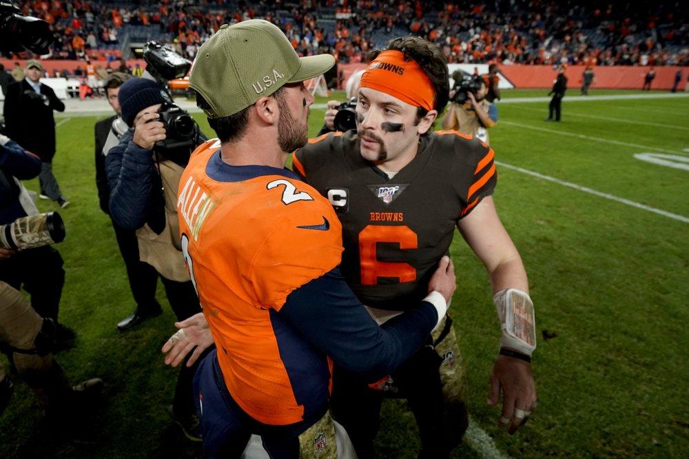 Allen leads Broncos past Browns 24-19 in first NFL start