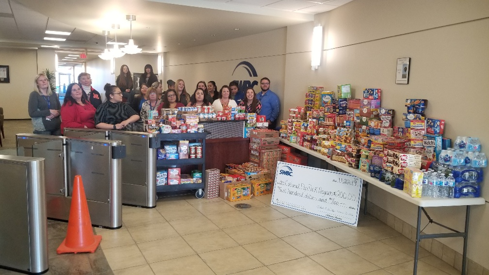 SWBC Helps Backpack Program Meet Shortfall with Food Drive