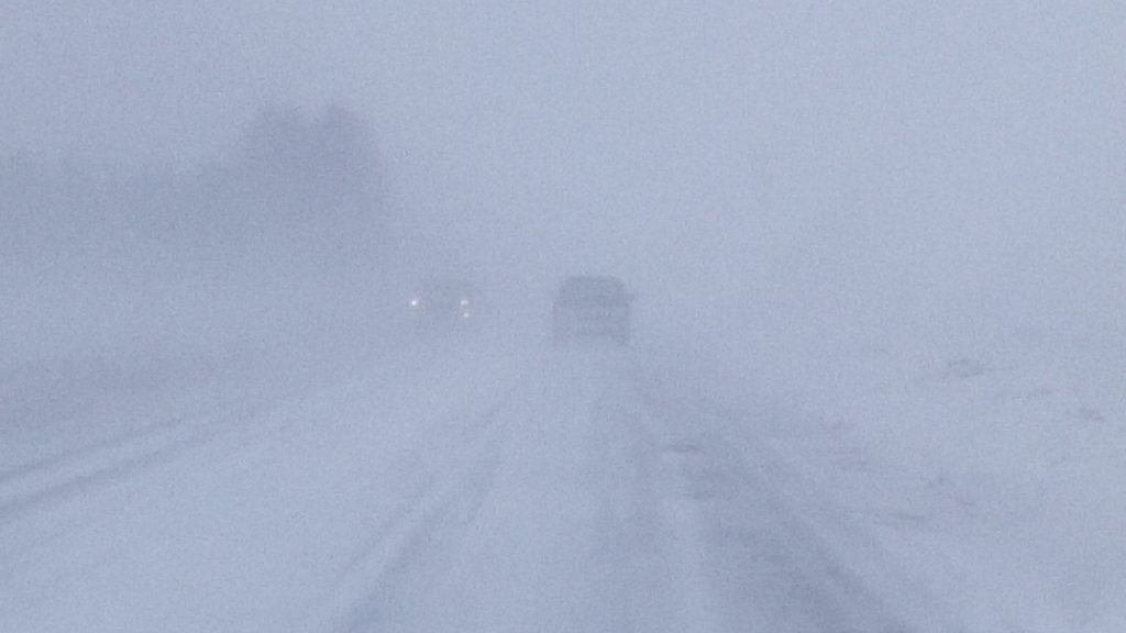 Blizzard Closes Down Wyobraska Travel; Power Losses Mount
