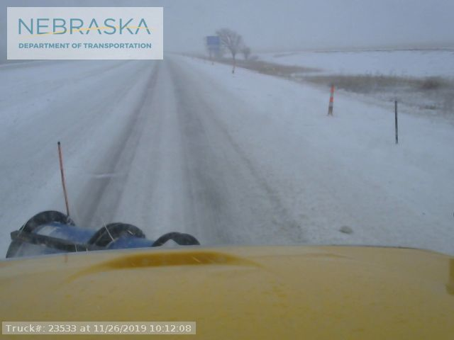 Snow covering several Nebraska highways