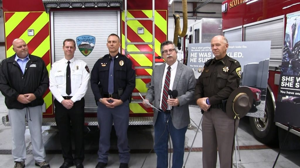 "Statewide ""Click it or Ticket"" Mobilization Launched In Scottsbluff"