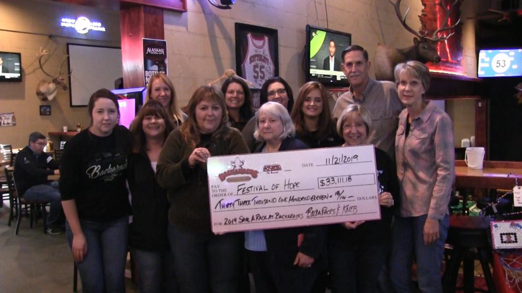 Check For Over $33k Presented To Festival Of Hope From Annual Bra Auction