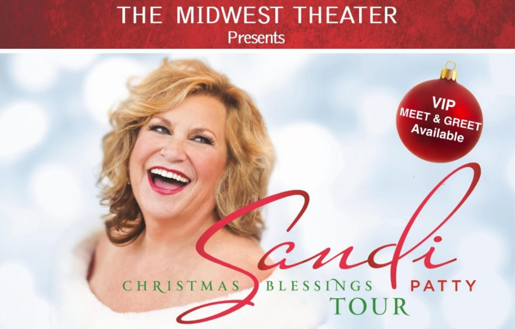 "Sandi Patty to perform on her ""Holiday Blessings Tour"" Thursday At Midwest Theater"