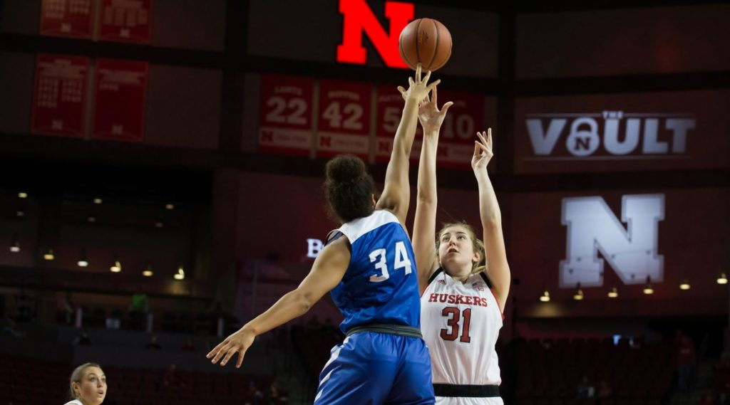 Jays shoot past Huskers, 79-74