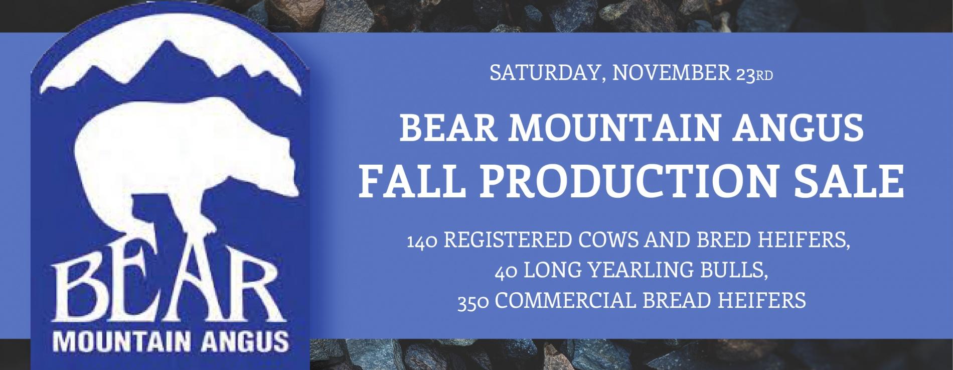 Bear Mountain Angus Ranch Fall Production Sale