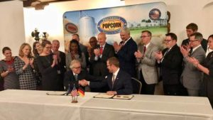 Gov. Ricketts Launches Trade Mission to Germany, Preferred Popcorn Signs Trade Agreement