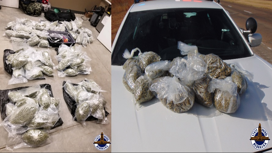 NSP Seizes 134 Pounds of Marijuana in Sidney, Giltner Traffic Stops