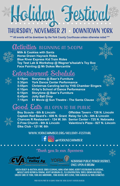York Holiday Festival To Be Held Tonight