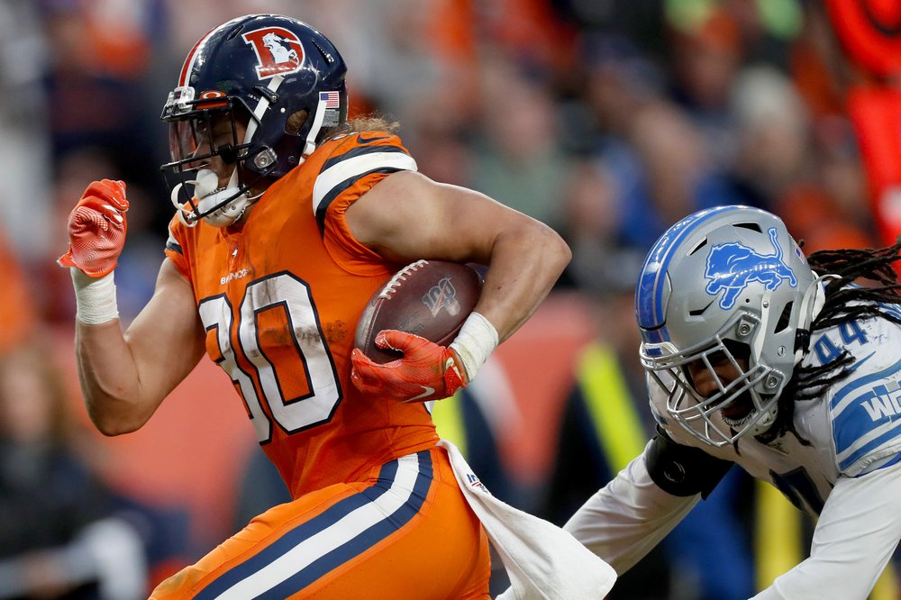 Lock, Lindsay lead Broncos to 27-17 win over Lions