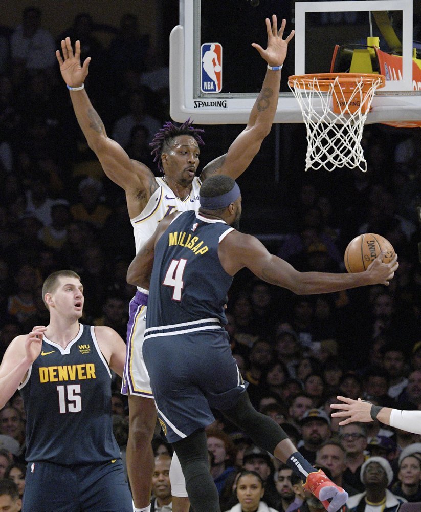Nuggets beat LeBron-less Lakers 128-104 for 6th win in a row