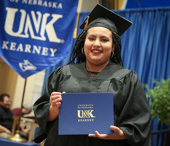 Lopez-Cruz honors parents with UNK commencement message