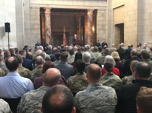 Gov. Ricketts, Nebraska National Guard Celebrate National Guard's 383rd Birthday