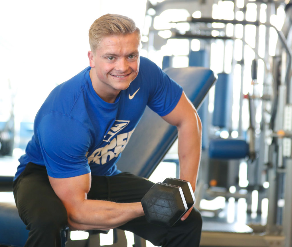 For UNK senior Michael Clark, weightlifting grows from hobby to career goal.