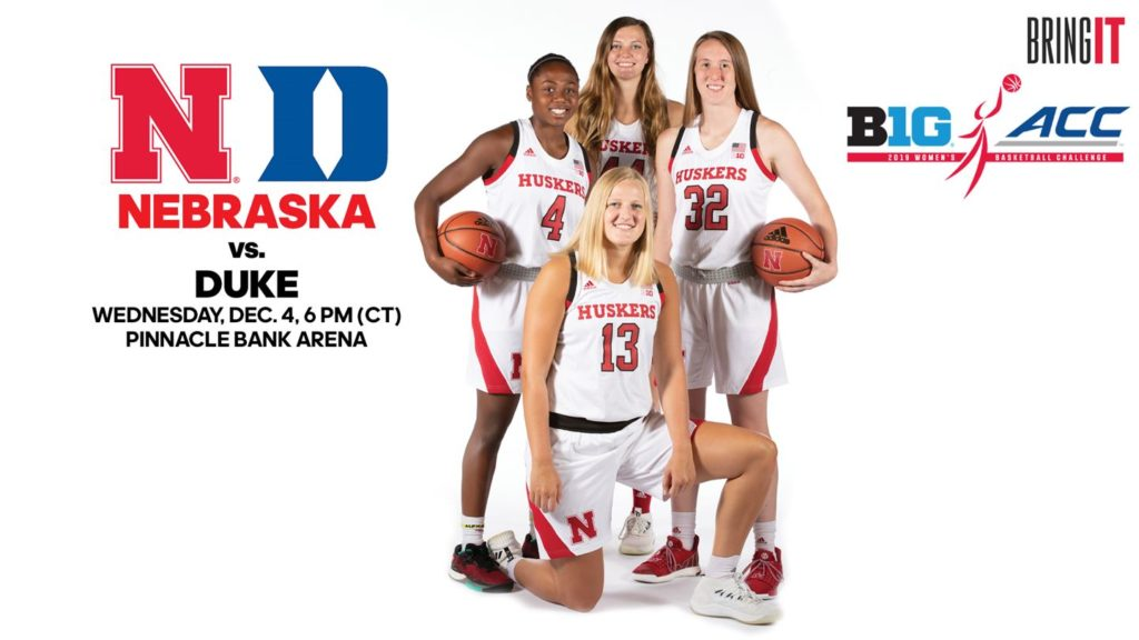 Huskers to host Duke tonight in Big Ten/ACC Challenge