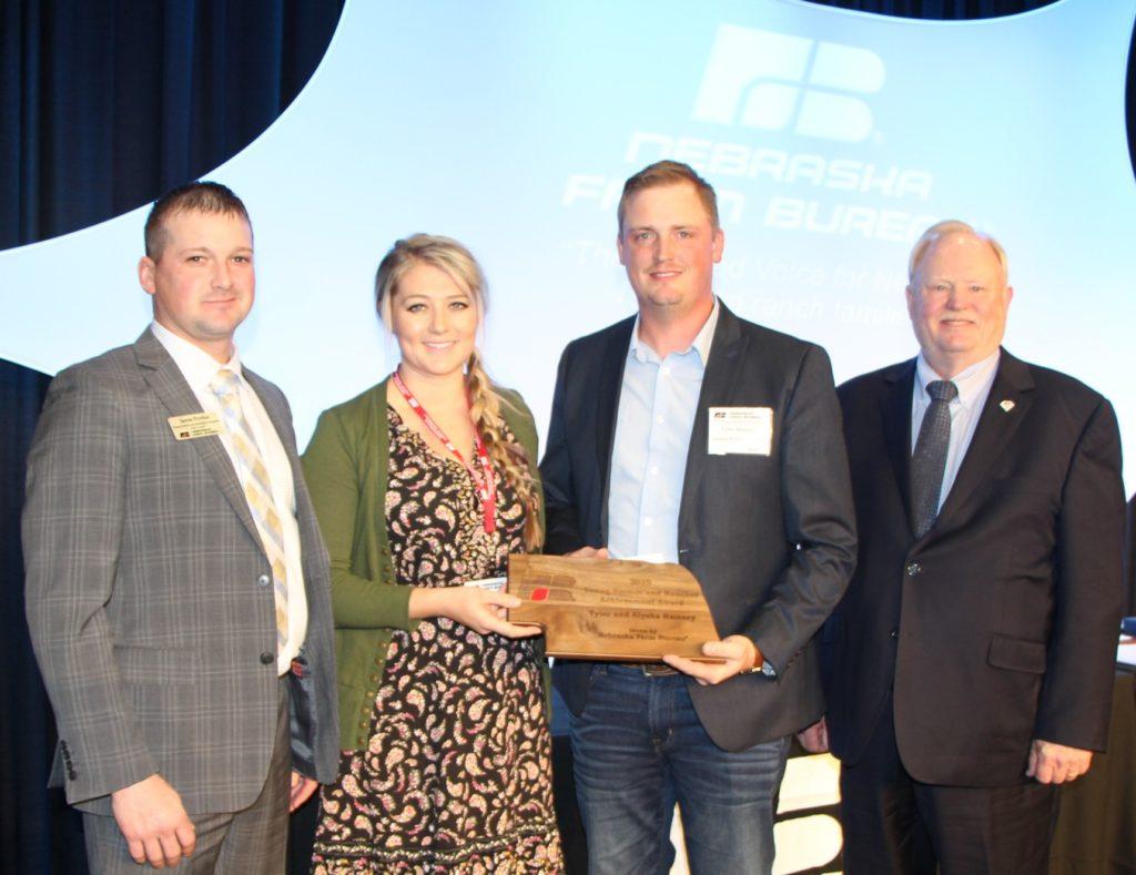 Adams County Farm Bureau Couple Take Home Nebraska Farm Bureau's  Young Farmers and Ranchers Achievement Award