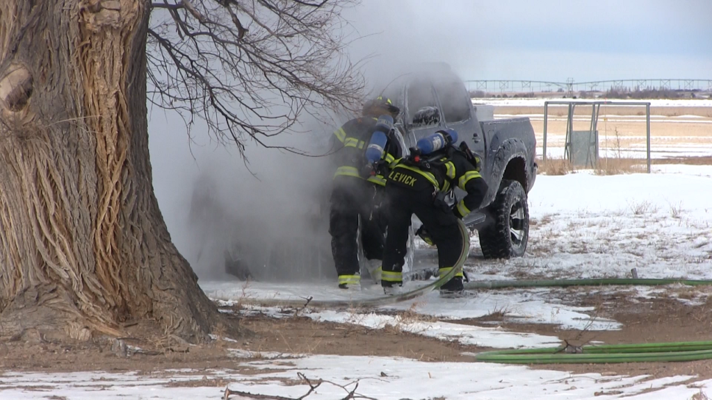 Driver Avoids Injury in Pickup Truck Fire on Northeast Edge of Scottsbluff