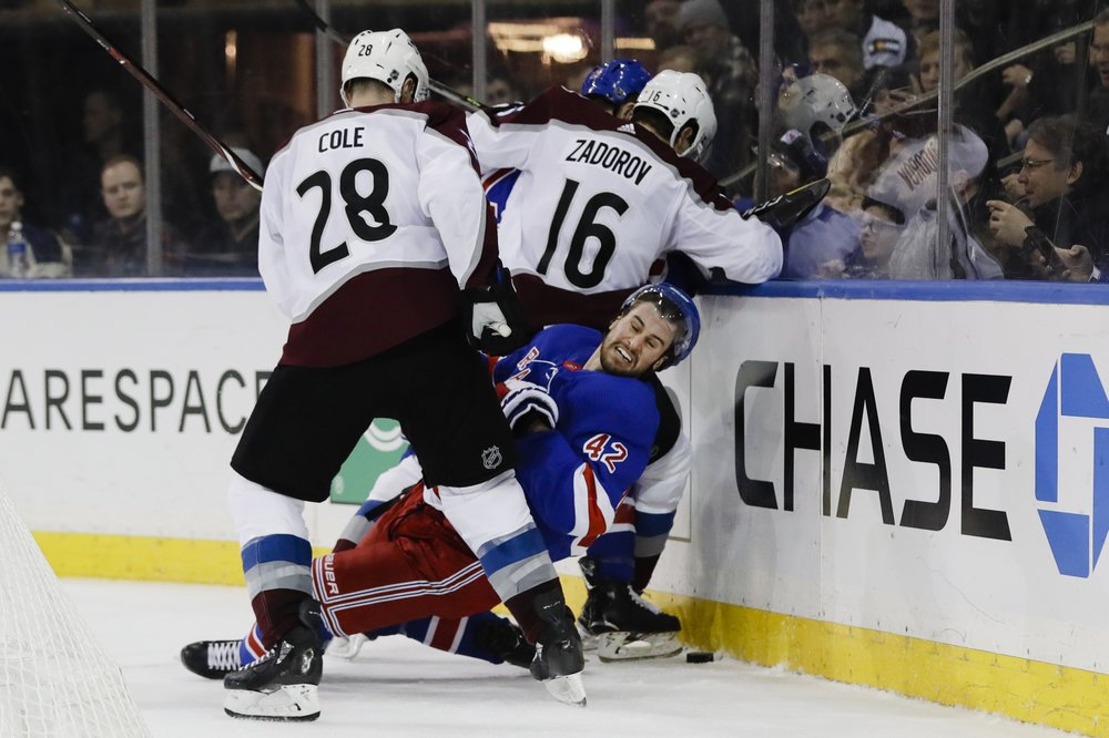 Avs lose 5-3 at New York Rangers