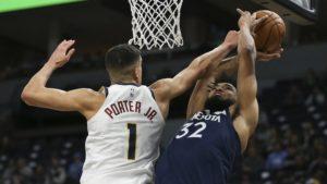 Porter helps Nuggets overtake struggling T-wolves, 107-100