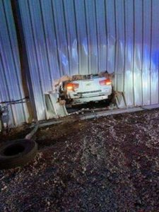 Minatare Woman Cited After Driving Car Into Building