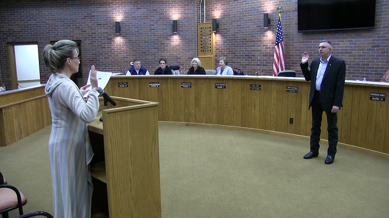 Abel Sworn-In to Ward IV Seat on Gering City Council
