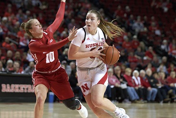 Husker Women knock off Badgers