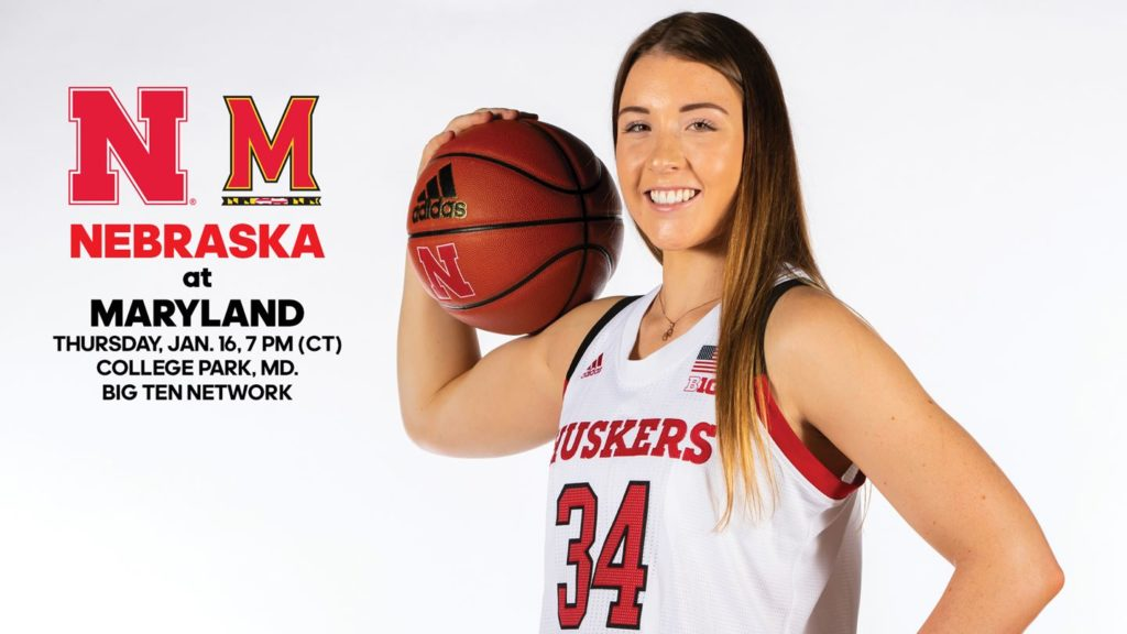Huskers travel to No. 20 Terps Thursday