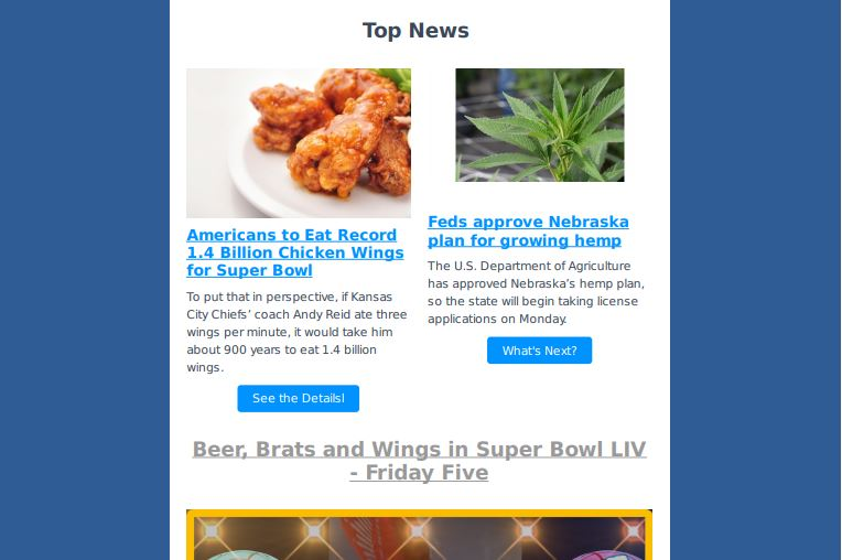 NEWSLETTER: 1.4 Billion Chicken Wings Will Be Consumed This Weekend – Weekly Ag News