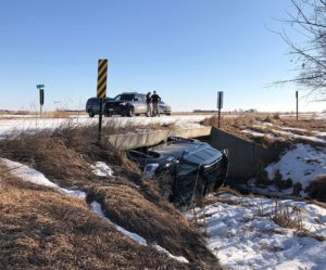 No injuries following Monday rollover near Lexington