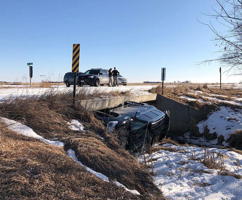 No injuries following Monday rollover near Lexington