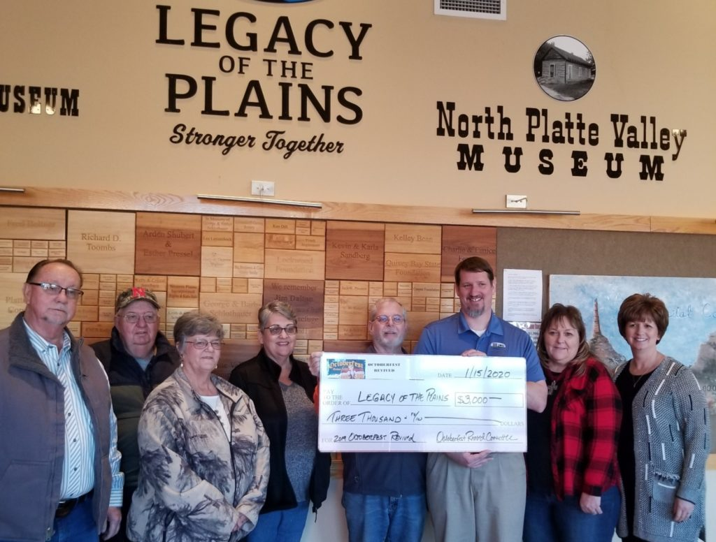 Legacy of the Plains Museum receives donation from Octoberfest Revived Committee