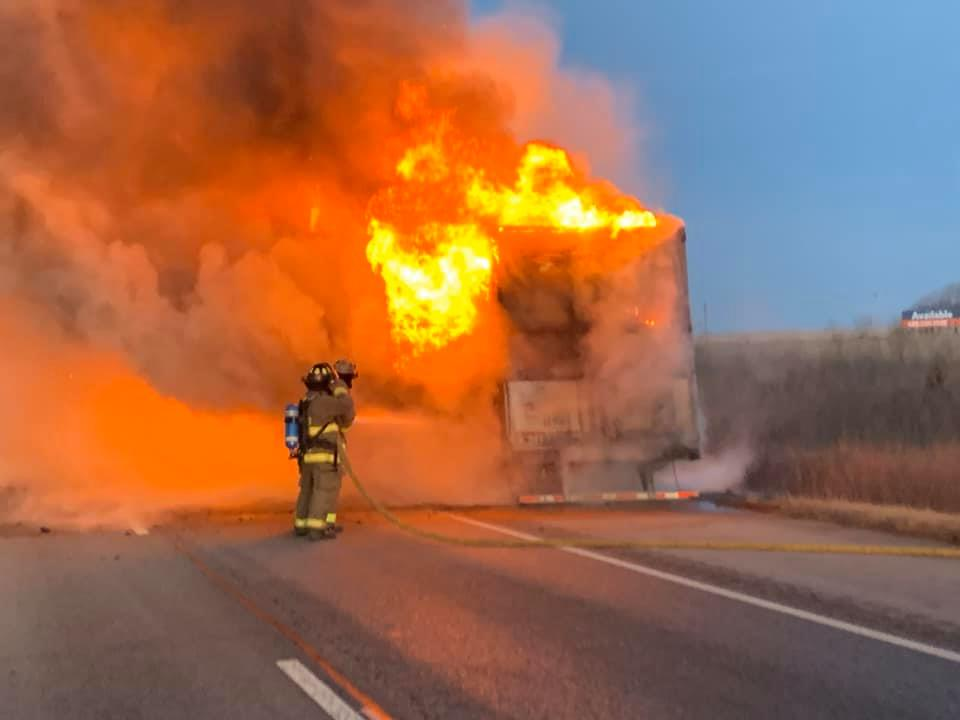 Semi Fire Between Seward and Milford Closes Stretch I-80 Westbound