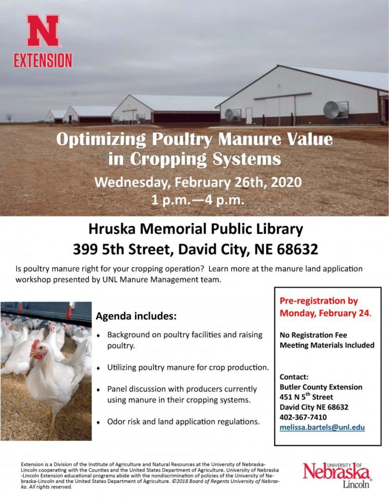 Nebraska Extension Workshop: Demystifying Poultry Manure