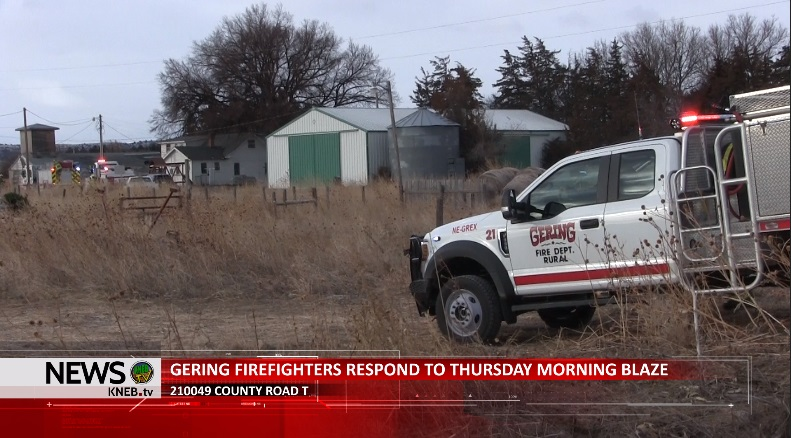 Shed Destroyed; Goat Dies Following Rural Gering Fire
