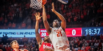 Four Huskers Hit Double Figures in Loss at Illinois