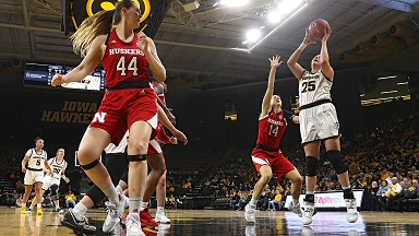 Nebraska Women lose at Iowa