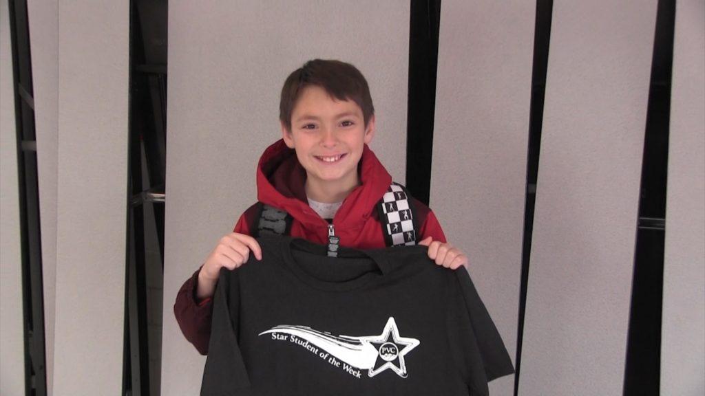 Minatare 6th Grader Noah Manka Named PVC Star Student of the Week