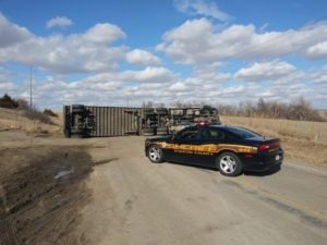 Semi Overturns On Highway 57 North Of Stanton