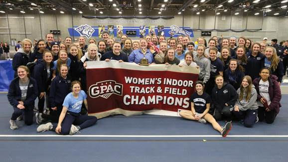 Dominance continued on women's side, men place third at GPAC meet