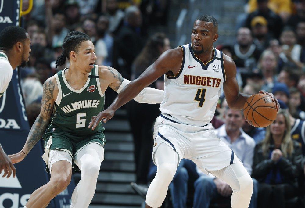 Nuggets send short-handed Bucks to 3rd straight loss