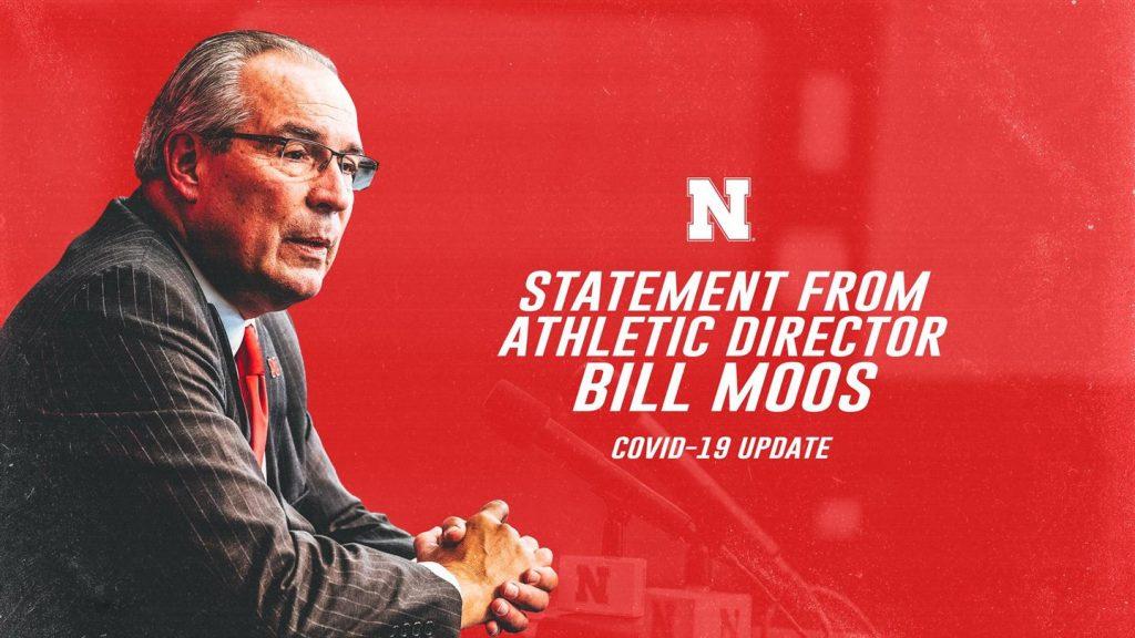 COVID-19 update: Statement from Nebraska Athletic Director Bill Moos