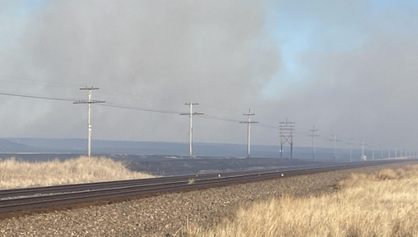 Multiple fire units battle wildfire near Lodgepole